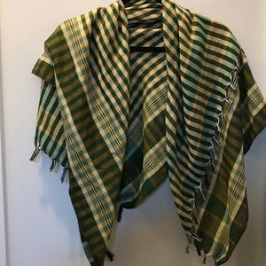 Accessories - Silk Green and Gold scarf from India